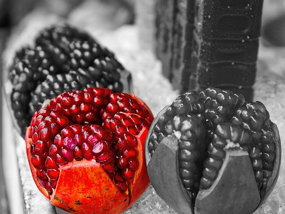 Red Pomegranates, Red Covers
