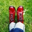 Relaxing red shoes