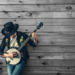 Minstrel with banjo