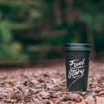 Coffee cup with message